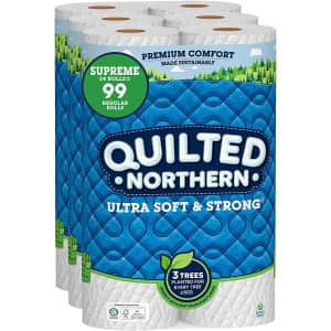 Quilted Northern Ultra Soft & Strong Supreme Toilet Roll 24-Pack for $20 via Sub & Save