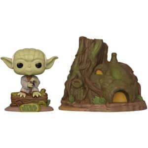 Funko Pop! Town: Star Wars Dagobah Yoda and Hut for $45