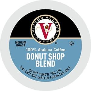 Victor Allen's Donut Shop Blend for K-Cup Keurig 2.0 Brewers, 42 Count, Victor Allens Coffee Medium Roast Single for $18