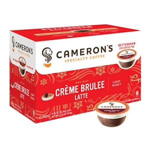 Cameron's Coffee Holiday Single Serve Pods, Flavored, Crme Brulee Latte, 12 Count (Pack of 1) for $15
