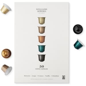 Williams-Sonoma 50-Count Coffee Capsules Gift Set for $15