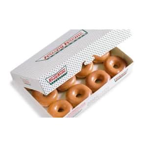 Krispy Kreme Original Glazed Dozen: 50% off w/ other dozen purchase