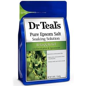 Dr Teal's 3-lb. Epsom Salt Soaking Solution for $3.22 via Sub & Save
