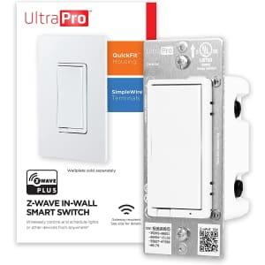 UltraPro Z-Wave Plus Smart Light Switch for $30