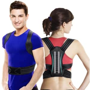 Vokka Adjustable Posture Corrector Brace for $14