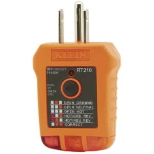 Klein Tools Outlet Tester w/ GFCI for $10