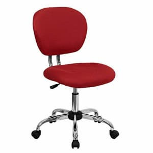 Flash Furniture Mid-Back Red Mesh Padded Swivel Task Office Chair with Chrome Base for $99