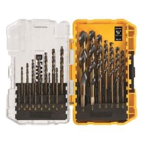 DeWalt 21-Piece Black Oxide Drill Bit Set for $20