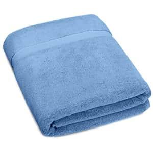 Amazon Brand Pinzon Heavyweight Luxury Cotton Large Towel Bath Sheet - 70 x 40 Inch, Marine for $35
