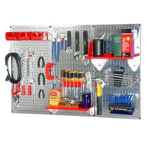 Wall Control 30WRK400GVR 4-Feet Metal Pegboard Standard Tool Storage Kit with Galvanized Toolboard for $128