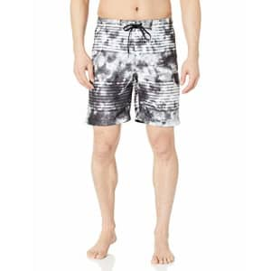 Speedo Speedo Men's Boardshorts - Misty Blur 2, Speedo Black, XX-Large for $14