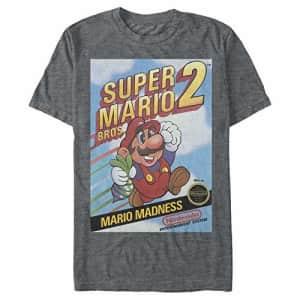 Nintendo Men's T-Shirt, Char HTR, XXX-Large for $14