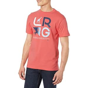 LRG Men's Spring 21 Graphic Designed Logo T-Shirt, Icons Coral, 3X for $23