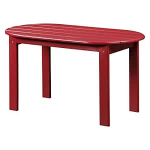 Linon Adirondack Patio Coffee Table in Red for $79