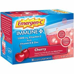 Emergen-C Immune+ 1000mg Vitamin C Powder, with Vitamin D, Zinc, Antioxidants and Electrolytes, for $33