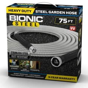Bionic Steel 75-Foot Heavy-Duty Stainless Steel Garden Hose for $42