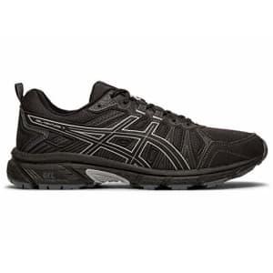 ASICS Men's Gel-Venture 7 Running Shoes, 9M, Black/Sheet Rock for $56