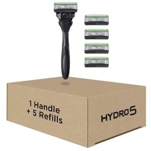 Schick Men's Hydro Skin Comfort Sensitive 5-Blade Razor Kit for $9