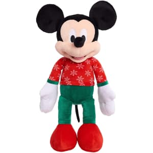 Disney Mickey Mouse 2020 Large Holiday Plush for $7