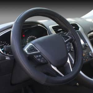 SEG Direct Microfiber Leather Steering Wheel Cover for $16