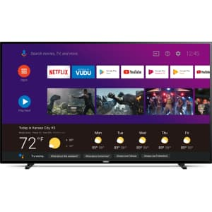 """Philips 65"""" 4K UHD HDR LED Android Smart TV for $278"""