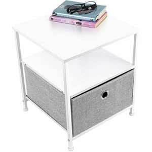 Sorbus Nightstand 1-Drawer Shelf Storage- Bedside Furniture & Accent End Table Chest for Home, for $45