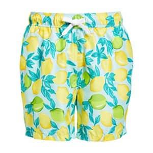 Kanu Surf Men's Monaco Swim Trunks, Lemons Lt Blue, Medium for $19