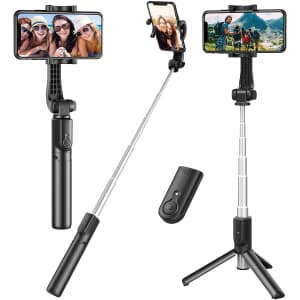 Erligpowht Extendable Selfie Stick with Wireless Remote for $12