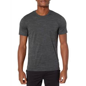 Amazon Brand - Peak Velocity Men's Novelty Jacquard Crew Neck T-shirt, black, Medium for $18