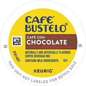 Cafe Bustelo Caf Bustelo Caf con Chocolate Flavored Espresso Style Coffee, 96 Keurig K-Cup Pods for $70