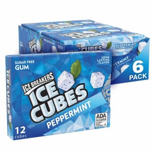 Ice Breakers Ice Cubes Sugar Free 12-Piece Peppermint Gum 6-Pack for $6.13 via Sub & Save