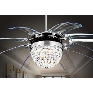 """RS Lighting 42"""" LED Crystal Fandelier for $205"""