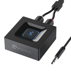 Esinkin Bluetooth Wireless Audio Receiver for Speakers for $14