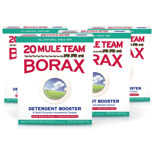 20 Mule Team Borax Detergent Booster and Multi-Purpose Household Cleaner 65-oz. Box 4-Pack for $18