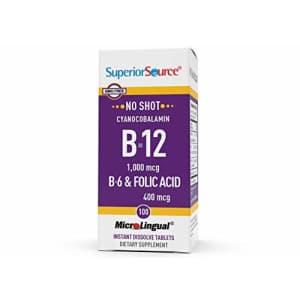 Superior Source No Shot Vitamin B12 Cyanocobalamin (1000 mcg), B6, Folic Acid, Quick Dissolve for $13