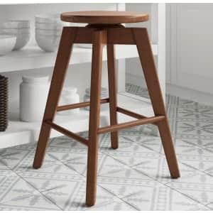 "Nathan James Amalia 25"" Solid Wood Swivel Bar Stool for $62"