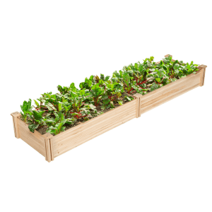 """Yaheetech 97"""" x 25"""" Wooden Planting Bed for $65"""