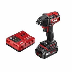 SKIL PWRCore 20 Brushless 20V 1/4 Inch Hex Impact Driver, Includes 2.0Ah Lithium Battery and for $132