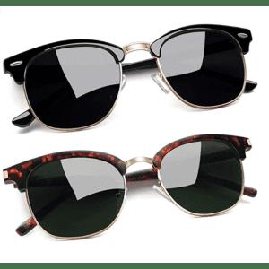 Joopin Polarized Semi Rimless Sunglasses 2-Pack for $9