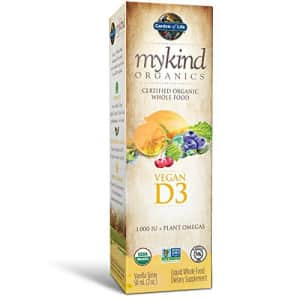 Garden of Life D3 Vitamin - mykind Organic Whole Food Vitamin D Supplement with Plant Omegas, for $22