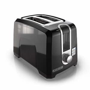 Black + Decker BLACK+DECKER 2-Slice Extra-Wide Slot Toaster, Square, Black, T2569B for $25