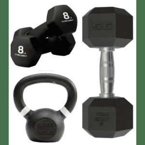 Tru Grit Dumbbells & Kettlebells from Best Buy at eBay: Up to 40% off