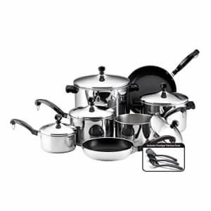 Farberware 50049 Classic Stainless Steel Cookware Pots and Pans Set, 15-Piece for $184