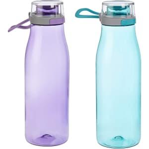 Amazon Basics Tritan 24-oz. Water Bottle 2-Pack for $12