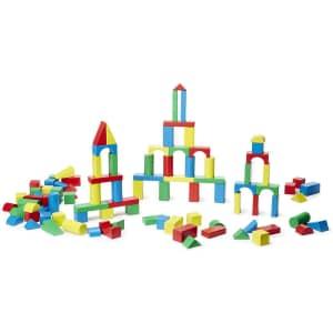 Melissa & Doug Wooden Building Block Set for $26