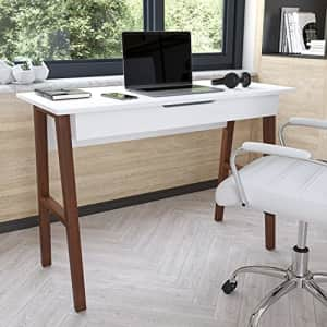 """Flash Furniture Computer Desk - White Home Office Desk with Storage Drawer - 42"""" Long Writing Desk for $135"""