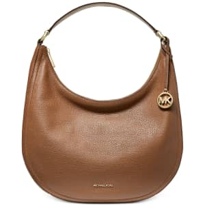 Michael Michael Kors Lydia Large Leather Hobo Bag for $134