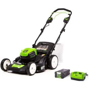 "Greenworks Pro 80V 21"" Self-Propelled Lawn Mower Kit for $548"