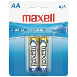 Maxell 723407 - LR62BP Alkaline Batteries (AA; 2 pk; Carded) for $125
