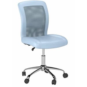 Serta Essentials Computer Chair, Blue Sky Faux Leather and Mesh for $100